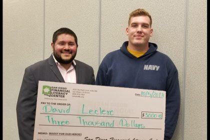 SDFLC Awards Navy Seaman $3,000